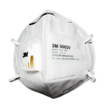 3M 9002V摺疊式附閥防塵口罩