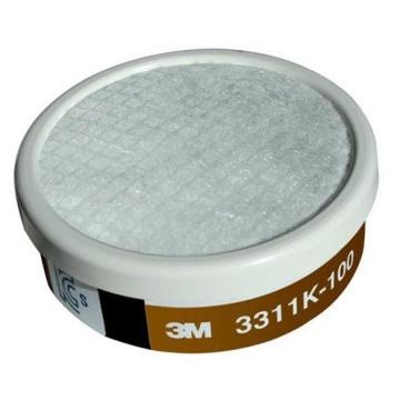 3M 3311K-100有機氣體濾毒罐(含濾棉)