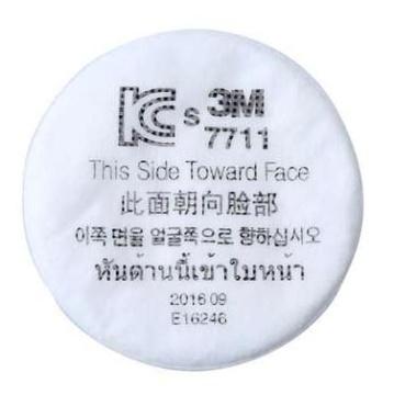 3M 7711粉塵顆粒過濾棉